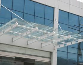 钢化夹胶玻璃棚3